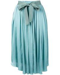 Forte Forte - Asymmetrical Pleat Skirt - Lyst