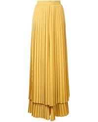 Sara Battaglia - Pleated Layered Trousers - Lyst