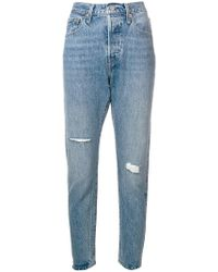 Levi's - Cropped-Jeans im Distressed-Look - Lyst