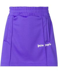 Palm Angels - Side Stripe A-line Track Skirt - Lyst