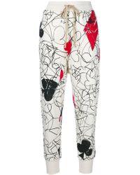 Vivienne Westwood | Printed Cropped Sweat Pants | Lyst