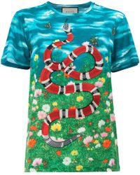 Gucci - Sky And Garden Print T-shirt - Lyst