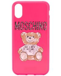 Moschino - Brushstroke Teddy Bear Iphone Xs Max Case - Lyst