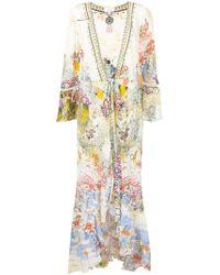 Camilla - Floral Print Long Coat - Lyst