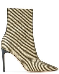 DSquared² - Metallic Stripe Ankle Boots - Lyst