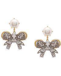 Miu Miu Pearl Bow Jewels イヤリング - マルチカラー