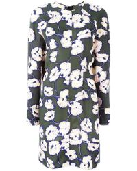 Marni - Floral Print Dress - Lyst