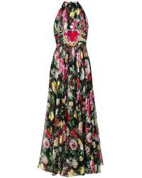 Dolce & Gabbana - Pleated Halterneck Dress - Lyst