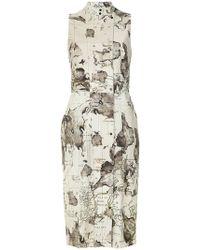 Andrea Marques - Maps Print Shift Dress - Lyst