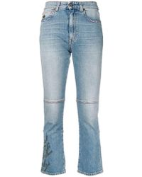 Mr & Mrs Italy - Embroidered Cropped Jeans - Lyst