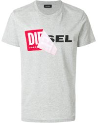 DIESEL - Branded T-shirt - Lyst