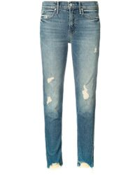 Mother - Distressed Jeans - Lyst