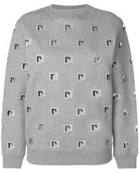 Paco Rabanne - Logo Embroidered Sweatshirt - Lyst