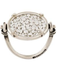 Ann Demeulemeester Blanche - Pearl Filled Reversible Ring - Lyst