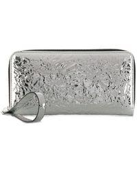 MM6 by Maison Martin Margiela - Crinkled Mirrored Zip Around Wallet - Lyst