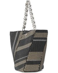 Hex leather trimmed stripe bag - Black Proenza Schouler be1XtfoU