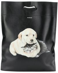 Balenciaga - Puppy And Kitten Plastic Bag M Shopper Tote - Lyst