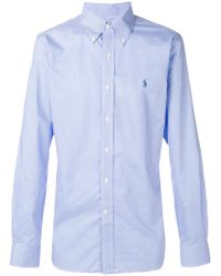Polo Ralph Lauren - Button-down Checked Logo Shirt - Lyst