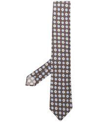 Ermenegildo Zegna - Corbata con motivo floral geométrico - Lyst