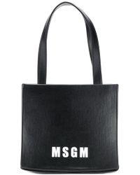 MSGM - Logo Print Mini Tote - Lyst