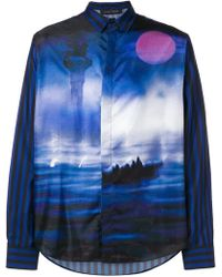 Christian Pellizzari - Moonlight Print Shirt - Lyst