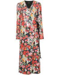 Goen.J - Sequin Maxi Wrap Dress - Lyst