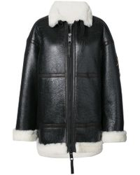 Vera Wang - Giacca Oversize Con Toppe Metallizzate - Lyst