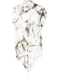 Nicole Miller | Tie Knot Shirt | Lyst