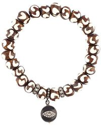 Loree Rodkin - Beaded Diamond Charm Bracelet - Lyst