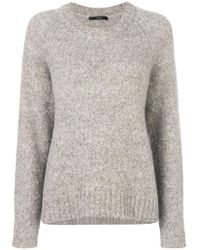 ODEEH - Ribbed Crew Neck Jumper - Lyst