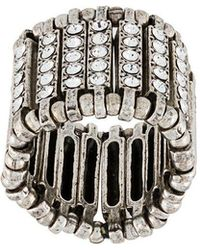 Philippe Audibert - Crystal Embellished Finger Ring - Lyst