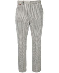 Paul Smith - Plaid Cropped Trousers - Lyst