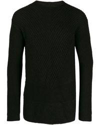 Rick Owens - Chevron Knit Sweater - Lyst