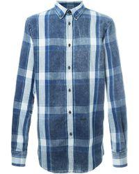 DSquared² - Button Down Plaid Shirt - Lyst