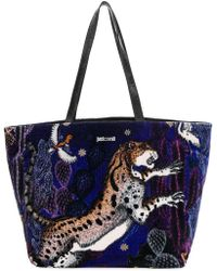 Just Cavalli - Printed Tote - Lyst