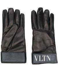 Valentino - Fur-lined Logo Gloves - Lyst