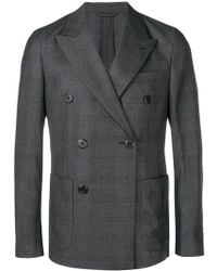 Prada - Double-breasted Check Blazer - Lyst