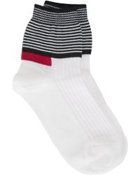 Undercover - Striped Panel Socks - Lyst