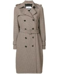 Closed - Houndstooth Trench Coat - Lyst