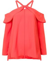 Proenza Schouler - Red Off-shoulder Blouse - Lyst