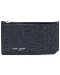 Saint Laurent - Fragment Zipped Card Case - Lyst