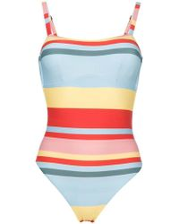 Asceno - Bold Stripe One Piece Swimsuit - Lyst