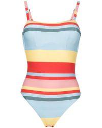 Beautiful Bottoms - Bold Stripe One Piece Swimsuit - Lyst