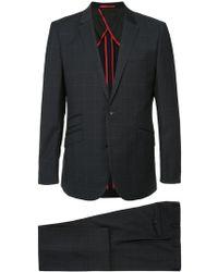 Loveless - Two Piece Grid Print Suit - Lyst