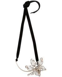 Lanvin - Crystal-embellished Flower Necklace - Lyst