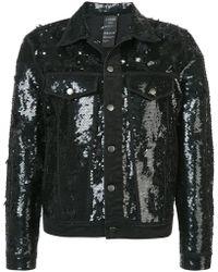 Ashish - Sequinned Distressed Denim Jacket - Lyst