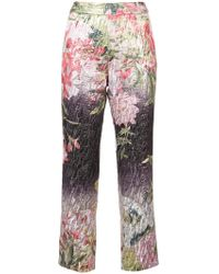 Josie Natori - Birds Of Paradise Cropped Trousers - Lyst