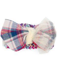 CA4LA - Tartan Bow Headband - Lyst