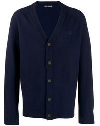 Acne Studios - Face Patch V-neck Cardigan - Lyst