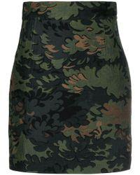 Ports 1961 - Leaf Embroidered Mini Skirt - Lyst